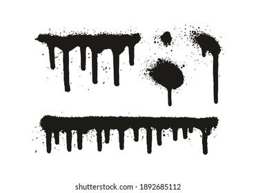 Spray Paint Elements Mix Of Lines And Drips And Backgrounds High Detail Abstract Vector Background Lines Drips Mix Set