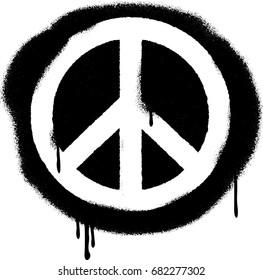 Spray Paint Graffiti Peace Symbol