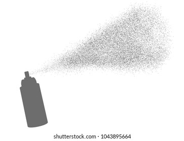 Spray particles flow effect. Vector graphic for brochure, website, flyer, print, poster, other design.