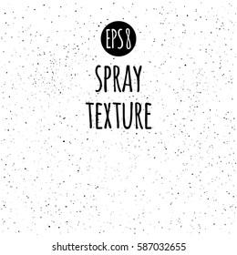 Spray, splash texture vector background. Tiny uneven ink spots, dots, specks, flecks, flakes. Grunge monochrome template.