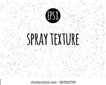 Spray, splash white texture vector background. Tiny uneven ink spots, dots, specks, flecks, flakes. Grunge monochrome template.