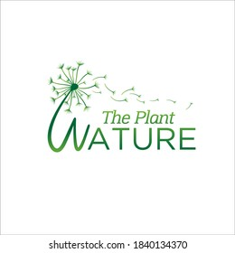spread dandelion plant logo designs for foundation service