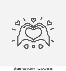 Spread love icon line symbol. Isolated vector illustration of  icon sign concept for your web site mobile app logo UI design.