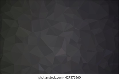 Spread white background to black . Polygonal pattern