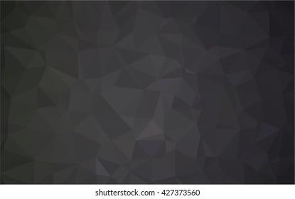 Spread white background to black . Polygonal pattern