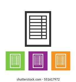 Spreadsheet Flat Web Icon
