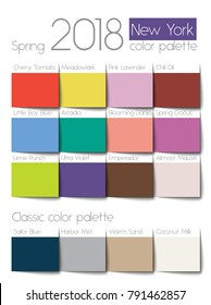 Spring 2018 color palette New York