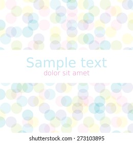 Spring abstract background with copyspace for your text. Vector Illustration EPS10.
