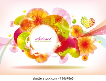 Spring abstract colorful banner