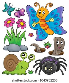 Spring animals and insect theme set 4 - eps10 vector illustration.