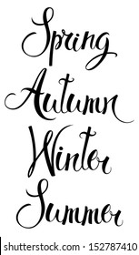 Spring, Autumn, Winter, Summer