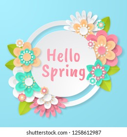 Spring background with beautiful colorful flower. Can be used for template, banners, wallpaper, flyers, invitation, posters, brochure, voucher discount. Vector illustration