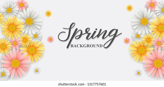 Spring background with beautiful flower