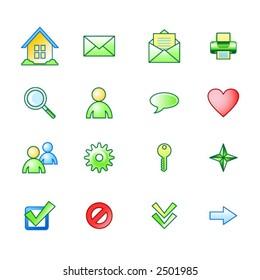 spring basic web icons set