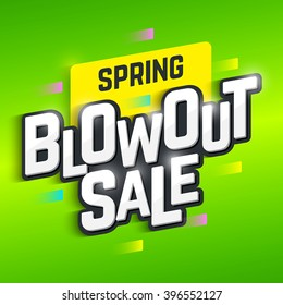 Spring Blowout Sale banner. Vector.