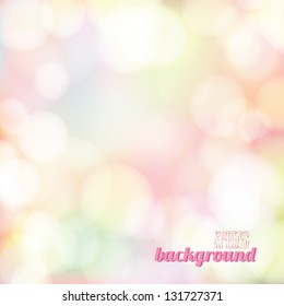 Spring bokeh background. Vector illustration
