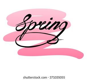 Spring card hand drawn. Vector illustration.