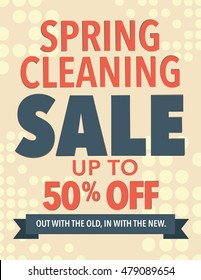 Spring cleaning sale up to 50 percent