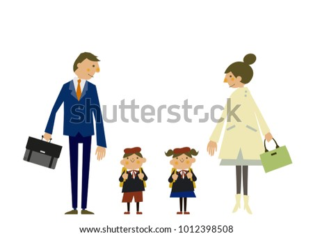 f9b6277118 Spring Clip Art Image Family Image Stock Vector (Royalty Free ...