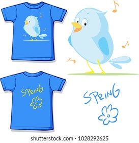 The spring is comming Shirt - cute flat design vector illustration