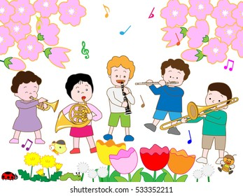 The spring concert of children.