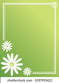 Spring Daisy Green Background