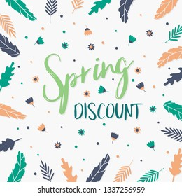 Spring Discount Background