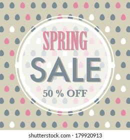 Spring or Easter sale background
