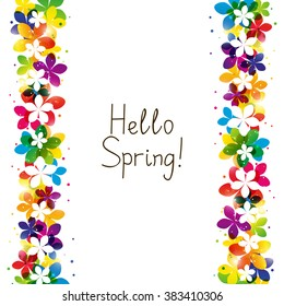 Spring floral border with place for Your text