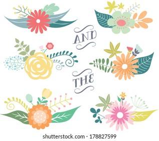 Spring Floral Clusters / Flower Wreaths