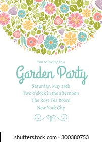 Spring Floral Invitation Three