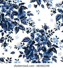 Spring Floral Vector, Repeat Pattern