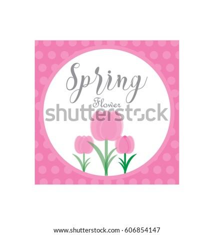 Spring flower logo vector template stock vector royalty free spring flower logo vector template mightylinksfo