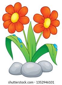 Spring flower topic image 1 - eps10 vector illustration.