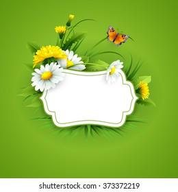 Spring flowers background design
