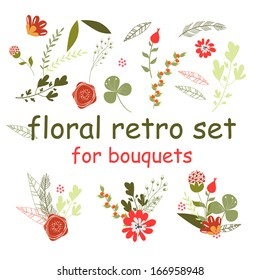 spring flowers for bouquets in vintage style