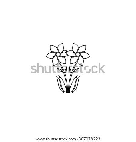 Spring flowers growing outline black simple stock vector royalty spring flowers growing outline black simple vector pictogram mightylinksfo