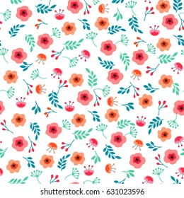 Spring flowers seamless pattern Small floral pattern floral illustration floral vector pattern flower pattern fabric