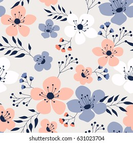 Spring flowers seamless pattern Small floral pattern floral illustration and floral vector pattern flower pattern fabric