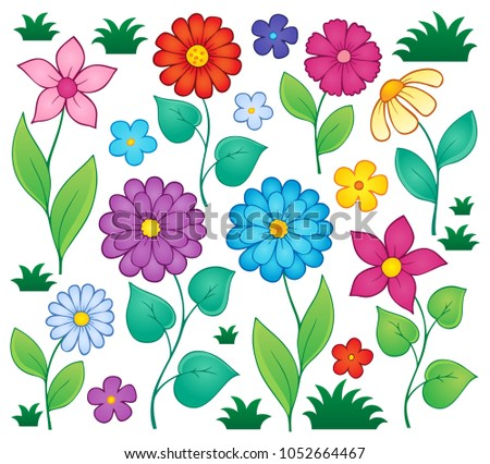 Spring flowers thematic set 3 - eps10 vector illustration.