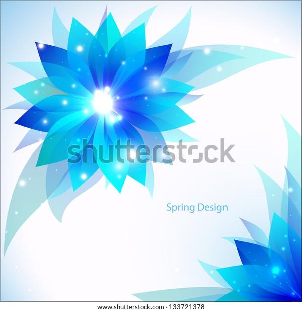 Spring Flowers. Vector illustration for your business presentation
