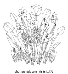 spring garden flowers coloring page 260nw