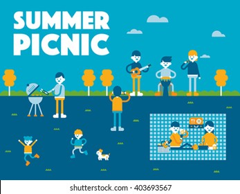 In spring, go on a picnic.