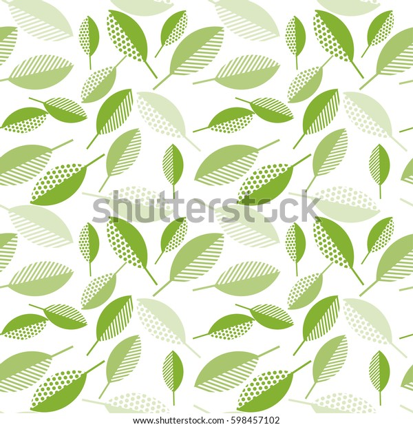 Spring Green Leaves Abstract Vector Illustration | Nature, Stock Image