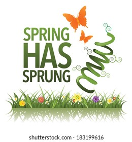 Spring has sprung design EPS 10 vector