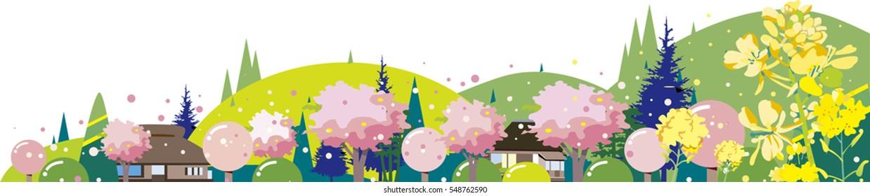 Spring landscape in Japan