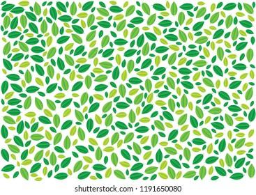 Spring leaves pattern background