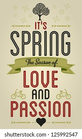 Spring Love Fun and Entertainment Greeting Card