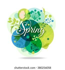 Spring Mood Floral Background. Vector Eps 10 Format.