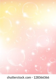 Spring pink bubble background